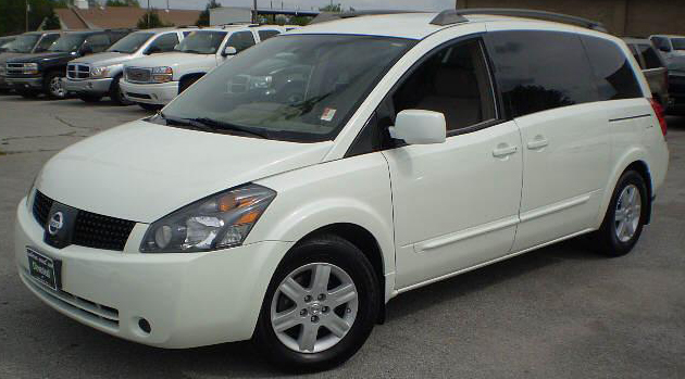 white nissan quest