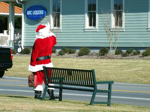 Santa at ABC store