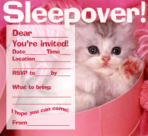 kitty invitation