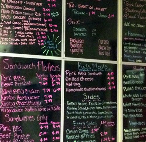 curricuck barbeque menu