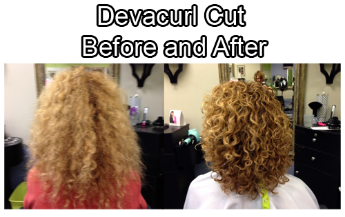 before and after devacurl cut