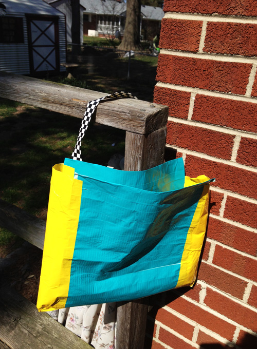 duck tape bookbag