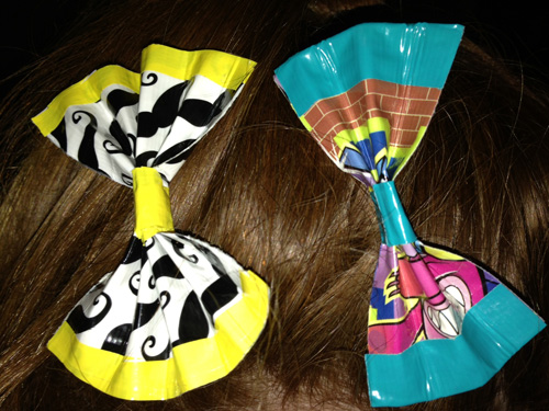 duck tape hair bows