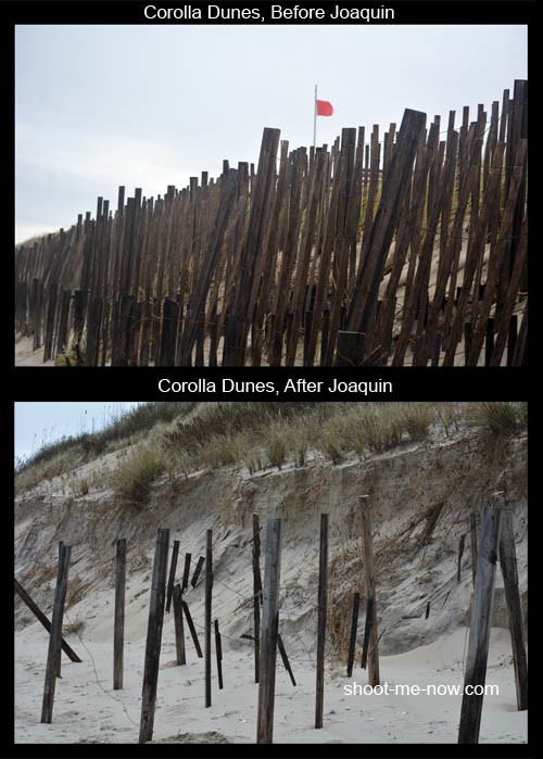 sand dune fences after hurricane