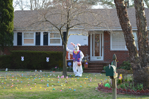 giant scary easter bunny