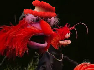 hat on floyd muppet