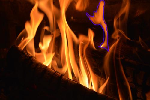 alien in fire