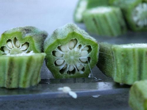 raw okra