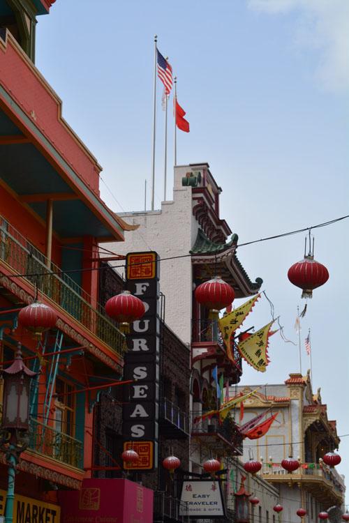 red chinatown lanterns