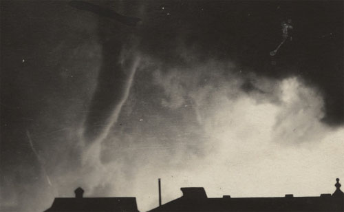 old black and white tornado