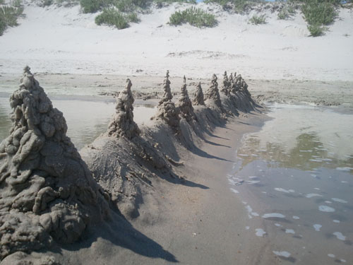dribble sand towers